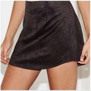 Kendall & Kylie Faux Suede Mini Skirt